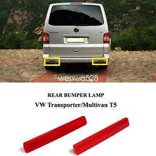 Pair VW T5 03-09 TRANSPORTER Rear Bumper Reflective Marker Lamp Light Reflector