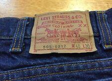 Vintage Levis 505 0217 Small e No Redline Levis Zipper Indigo Denim Jean. 38x30