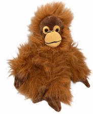 "Brown Orange Orangutan Plush Stuffed Animal Toy 10"" - EUC"