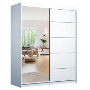 Schwebetürenschrank BONO 05 160cm Klein Kleiderschrank mit Spiegel Schiebetüren