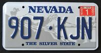 """NEVADA """" SILVER STATE - RAMHORN """" 2001 Vintage Classic NV Graphic License Plate"""