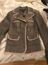 Bebe Suit Jacket Pink Gray