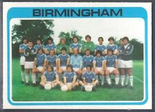 PALE BLUE BACK 1979 WEST BROM WBA TEAM UNMARKED CHECKLIST TOPPS-FOOTBALL -#395