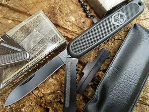 Schwarzes BW Taschenmesser Armee Outdoorset 6 teilig Messer Militär Bunderwehr