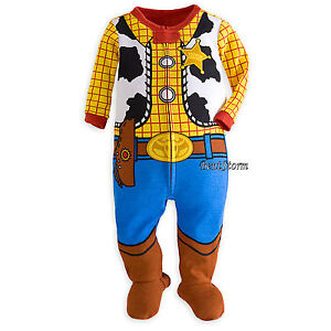 Disney Store Toy Story Woody Costume Footed Sleeper Pajamas Boys 12-18M NWT