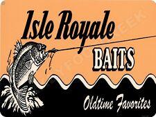 "ISLE ROYALE BAITS LURE 9"" x 12"" Sign"