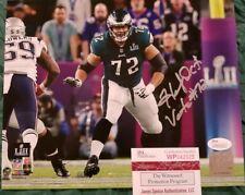 Halapoulivaati Vaitai Auto Signed Philadelphia Eagles 8x10 Photo JSA Witness COA