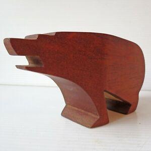 Kari Nordstrom Wood Carving Bear Sculpture Figure