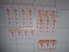 lot de rideaux fleurs orange
