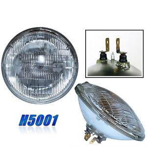 "5-3/4"" 5.75 Halogen Glass High Hi Sealed Beam Headlamp Light Bulb Headlight Pair"