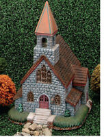 "Mayco Church Village Building 12"" x 7"" x 7""  Ceramic Bisque, Ready To Paint"
