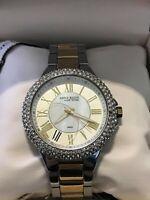 Anne Klein NY 12/2155WMTT Women's Two Tone Silver & Gold Swarovski Crystal Watch