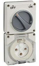 Clipsal 56-SERIES SWITCHED SOCKET 32A 1-Pole 3-Pins 250V Less Enclosure GREY