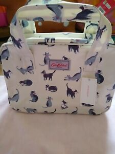 """CATH KIDSTON """"BLACK CAT PRINT""""  SMALL BOXY BAG NEW WITH TAGS"""