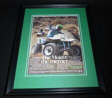 1987 Kawasaki Mojave 110 250 Framed 11x14 ORIGINAL Advertisement