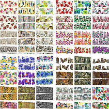 100 Sheets HOT Flower Leopard Mix Water Nail Art Stickers Decals for Nail Polish