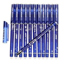 12Pcs Magic Pen Erasable Gel Pen 0.5 Mm Tip Blue Refill Stationery Writing Pens