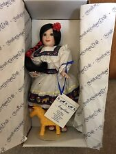"""Hamilton Heritage Porcelain Doll """"Angelina"""" by Cynthia Woodie"""