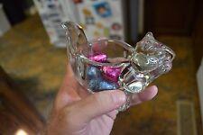 ~ Avon Chipmonk Squirrel Eating Acorn Figurine Clear Glass Votive Candle Holder