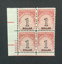 mystamps  US J100 Plate Block, $1 Postage Due 1959, MNH