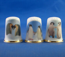 Birchcroft Thimbles -- Set of Three -- Penguin Pairs