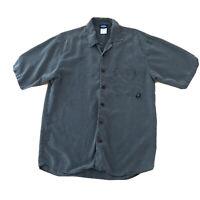Kavu Baggy Sage  Green Short Sleeve 100% Tencel Button Down Shirt Mens M