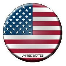 """Indoor/Outdoor United States Flag USA Metal Round Circular Sign 12"""""""
