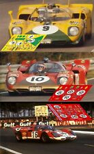 Decals Ferrari 512S Le Mans 1970 1:32 1:43 1:24 1:18 512 S slot calcas