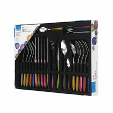 Amefa Eclat Spice 24 Piece Coloured Cutlery Set Stainless Steel Boxed Set