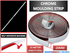 20MM x 15M CHROME STYLING MOULDING TRIM STRIP SELF ADHESIVE - METRE METER WINDOW