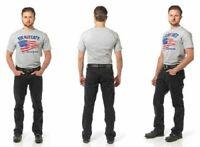 $74.99 NWT Gravitate Men's Black Motorcycle Jeans Size 42 X 34