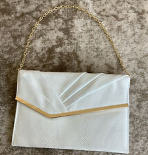 Womens Small White Clutch Bag