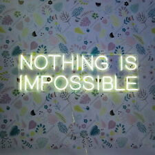 AOOS CUSTOM Nothing Is Impossible Dimmable LED Neon Light Signs For Wall Decor