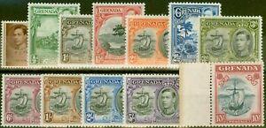 Grenada 1938 set of 12 SG152-163 Fine Lightly Mtd Mint