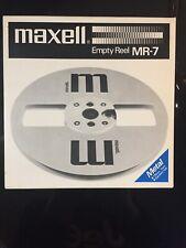 "MAXELL 7""  Empty  METAL REEL MR-7  W/ BOX  Japan"