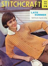 Stitchcraft Aug 1961: Knitting, Crochet, Tapestry - Please See Photos