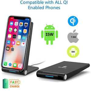 Fast Qi Wireless Charger Dock For iPhone 12 XS 11 XR Samsung S20 21 Note20 S10