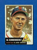 1953 Topps Baseball CARD #78 RED SCHOENDIENST HOF EX ST. LOUIS CARDINALS