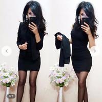 Damen Bodycon Ärmellos Minikleid Sommerkleid Abendkleid JACKE & KLEID Neu M