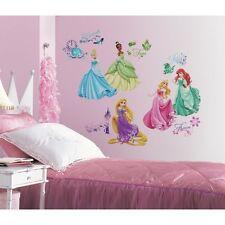 37 Disney Princess ROYAL DEBUT Wall Decals Ariel Rapunzel Glitter Stickers Decor