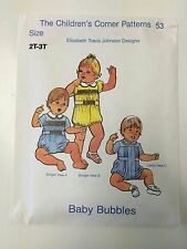 The Children's Corner Patterns 53 size 2T-3T smocked romper Baby Bubbles