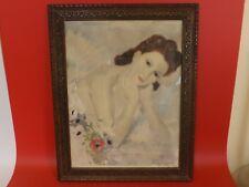 """Belle Lithographie des années 1920 / 30 Signée au crayon """"Martel"""" ?. Elégante"""