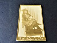 Antique 1880s G.W. Gail/Ax's Navy Tobacco Card with black & white image of lady.
