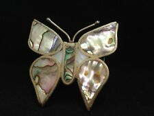 Silver Plate & Abalone - Butterfly - Artisan - Mexico - Buckle -  Free Shipping