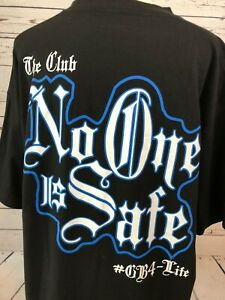 WWE The Club Anderson Gallows No One Is Safe GB4 Life Front and Back T-Shirt XL