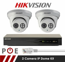 2 Camera Hikvision CCTV Kit- 8MP 4K Anti Vandal 2.8mm Fixed Dome Cameras White