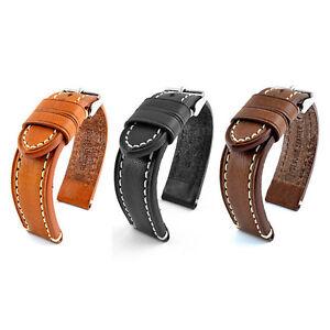 Bracelet Montre Cuir 18mm 20mm 22mm 24mm Pour Homme CATALONIA watch Band Strap