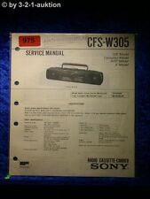 Sony Service Manual CFS W305 Cassette Recorder (#0975)
