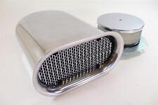 Aluminum Hilborn Style Hood Air Scoop Kit - Single 4 BBL Carb Polished Plain Top