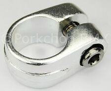 "Old school Suntour style BMX bicycle seat clamp 25.4mm (1"") - SILVER ANODIZED"